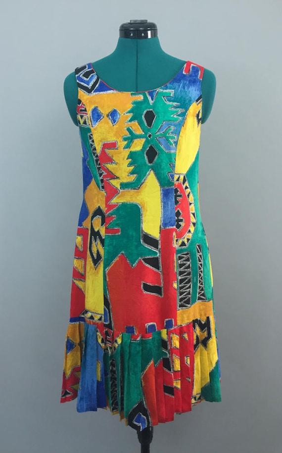 Loose Midi Dress, Loose Cotton Dress, Bohemian Dre