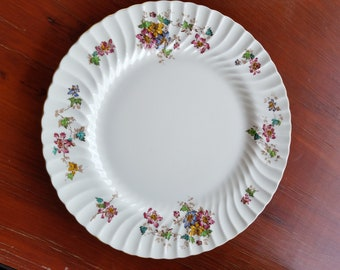 Vintage Floral China Platter - Mintons Vermont S-365 10- Made in England