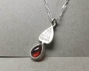 And Sometimes Y - Vowel Talisman with Hessionite Garnet - Made to Order