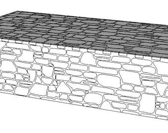 Medium Stone Pedestal - ATJA015