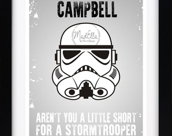 N'êtes-vous pas un peu court pour être une impression personnalisée de Stormtrooper