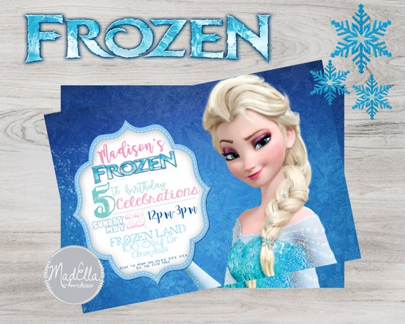 Frozen Birthday Digital Invitation