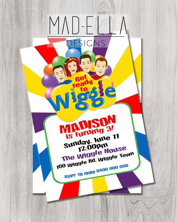 The Wiggles Invitation Wiggles Party Wiggles Birthday Etsy