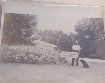 Vintage original black & white photograph