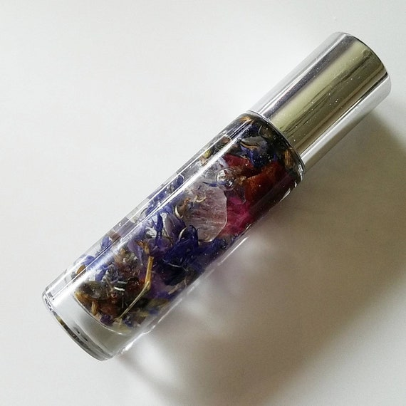 INTUIT Essential Oil, Amethyst Crystal Third Eye Chakra Roller