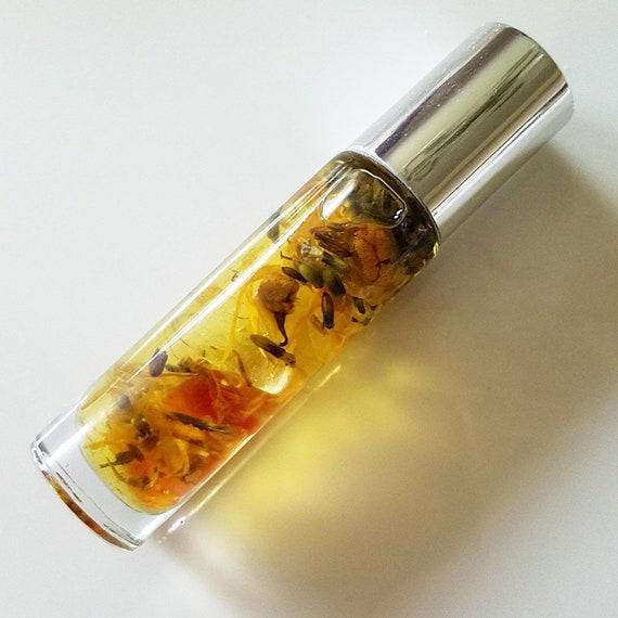 ABUNDANCE Sacral Chakra Essential Oil, Carnelian & Quartz Crystal Crown Chakra Roller