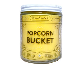 Popcorn Bucket Candle With Free Pin Inside