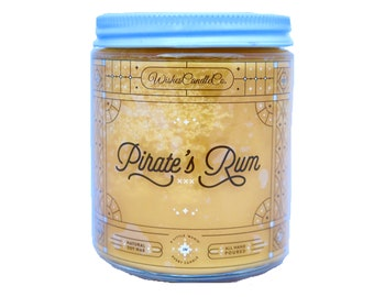 Pirate's Rum Candle With Free Pin Inside