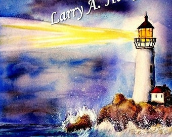 Lighthouse (LAH #132, Original Watercolor Painting)