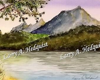 String Lake (LAH #170, Original Watercolor Painting)