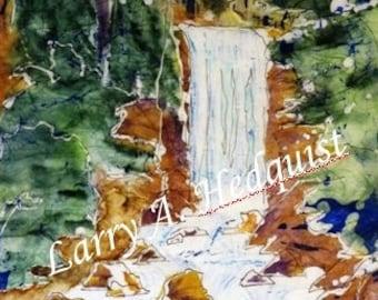 Vernal Fall (LAH #086, Original Watercolor Painting)