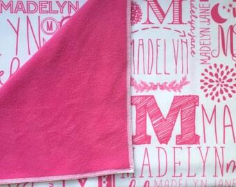 Personalized Fleece Toddler Blanket