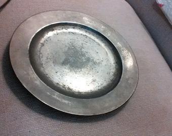 "Thomas Pewter 1767 (London) 9 1/2"" plate"