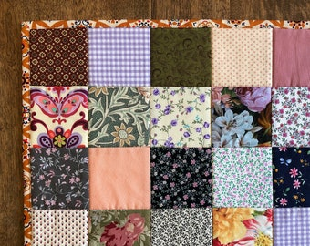 Quilted Placemat | Patchwork, Cotton, Vintage, Calico, Floral, Garden, Geometric, Squares