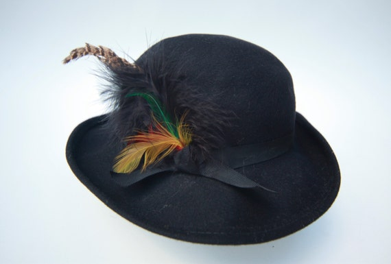 MEN S VINTAGE Black Doeskin Bollman Wool Hat  88f1f6079607