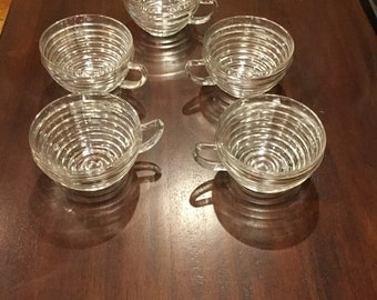 Anchor Hocking Manhattan punch cups (5)