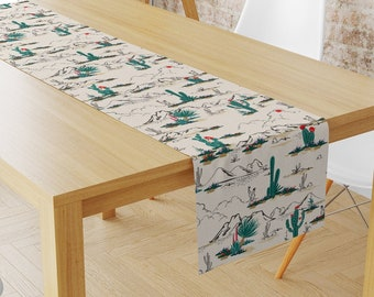 Camping Party or Adventure Party Cactus and Teepee Table Runner Accent Table Mat or Runner Ideal for a Cactus Party