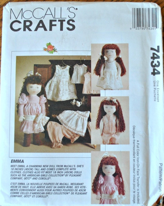 Vintage 60s McCalls Craft 60 Sewing Pattern Emmag Doll Etsy Beauteous Mccalls Craft Patterns