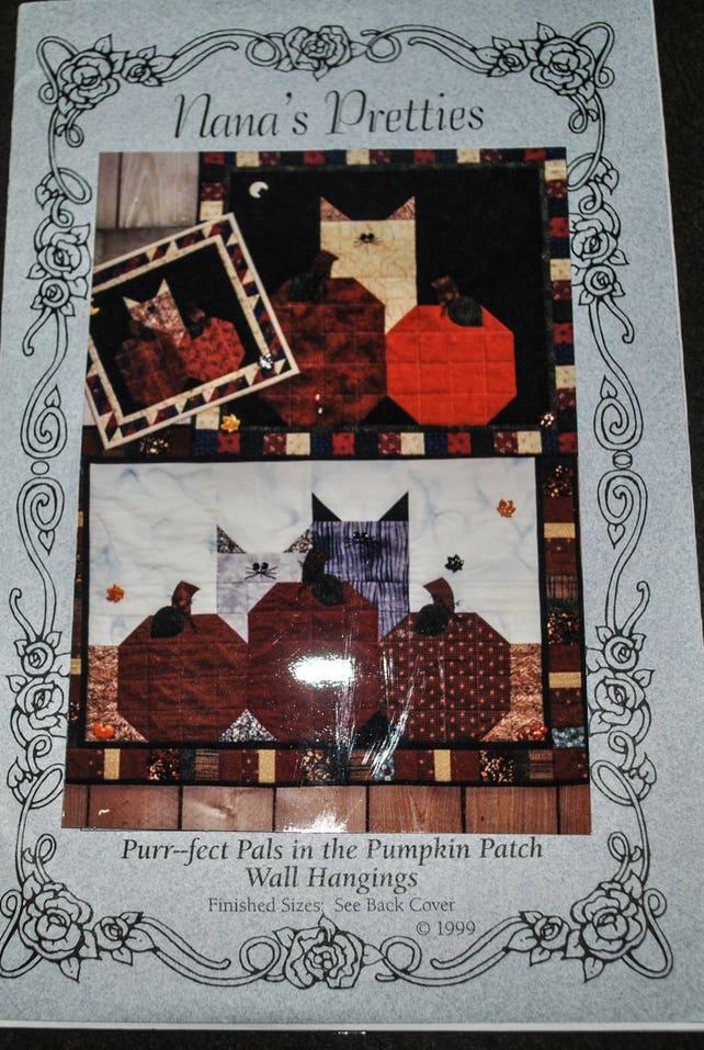 Halloween Fall Wall Hanging Quilt Pattern Nancy Bordeaux Etsy