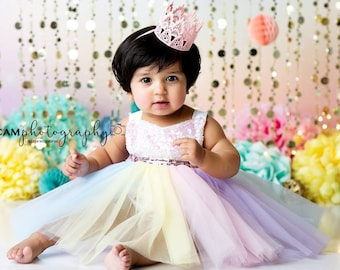 fd8f75031ce3b First Birthday Tutu, Unicorn Outfit Unicorn 1st Birthday Dress, Pastel  Birthday Outfit, Unicor Tutu Dress, Unicorn Dress, First Birthday