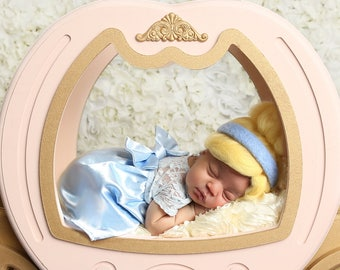 Newborn Princess Outfit, Cinderella Newborn Photo Outfit, newborn girl coming home outfit, Photo Outfit Prop, Newborn Princess Baby Dress