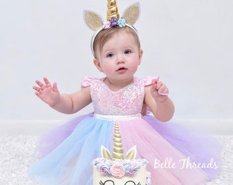 80fc92aeb Unicorn Rainbow Dress, Unicorn First Birthday Dress, Unicorn 1st Birthday, Unicorn  Birthday Outfit, Unicorn Tutu Dress, Unicorn Dresses girl