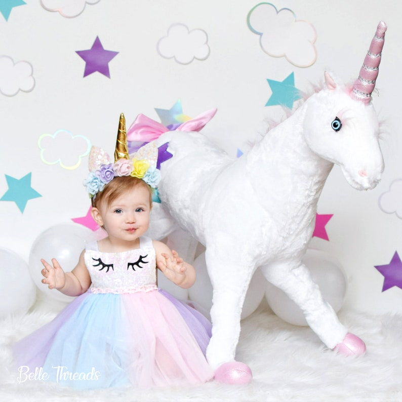 96fa7213ec888 Unicorn Girl Dress Unicorn First Birthday Outfit Unicorn Tutu | Etsy