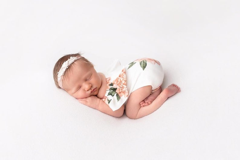 Newborn Girl Photo Outfit Baby Newborn Romper Set Newborn | Etsy