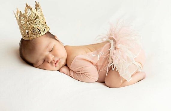 Ivory and pink crown Photography prop. Newborn props