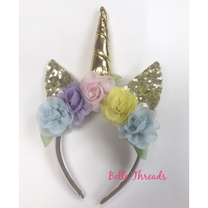 907067e8e8b Unicorn Headband Unicorn Floral Headband Unicorn Baby
