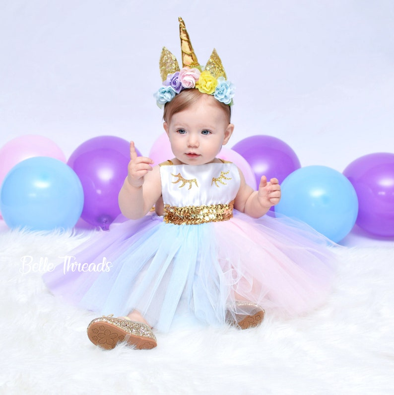d4134f62074b Unicorn Dress Unicorn First Birthday Outfit Unicorn Tutu | Etsy
