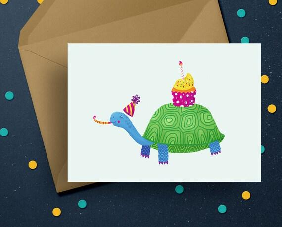 Birthday Card PRINTABLE Happy Birthday Celebrate Digital