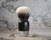 Transparent Resin shaving brush with englobed asian ebony wood Essentia brushes tuft brushes silvertip, manchurian
