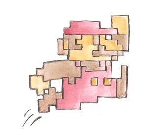Mario the Jumpman Art Print