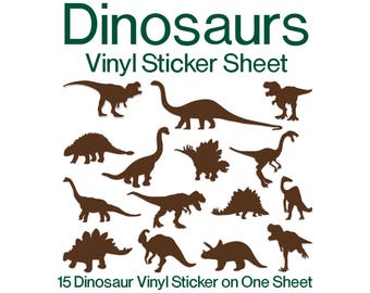 Dinosaurs | Dinosaur | Dinosaur Sticker | Dinosaur Vinyl Sticker | Vinyl Decal | Gift | Gift Ideas | Bucket Decal | Bucket Sticker | Decal