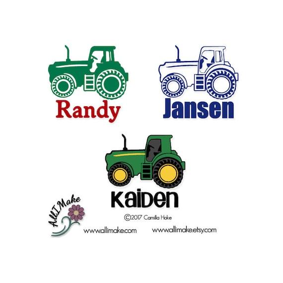 Tractor Vinyl Decal Tractor Decal John Deere John Deere Etsy