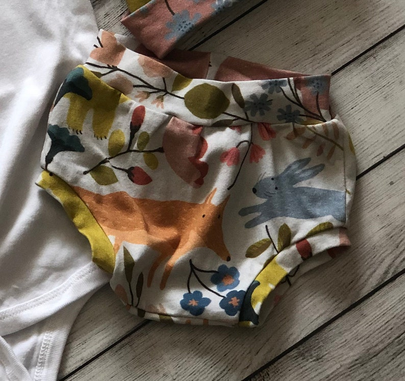 Woodland Baby Bummies Neutral Baby Baby Bear Shorties Coming Home Outfit Toddler Boy Shorts Woodland Baby Theme Summer Baby