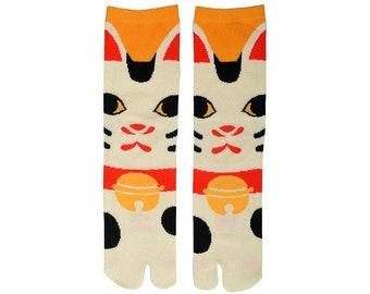 Womens Maneki Neko Tabi Socks
