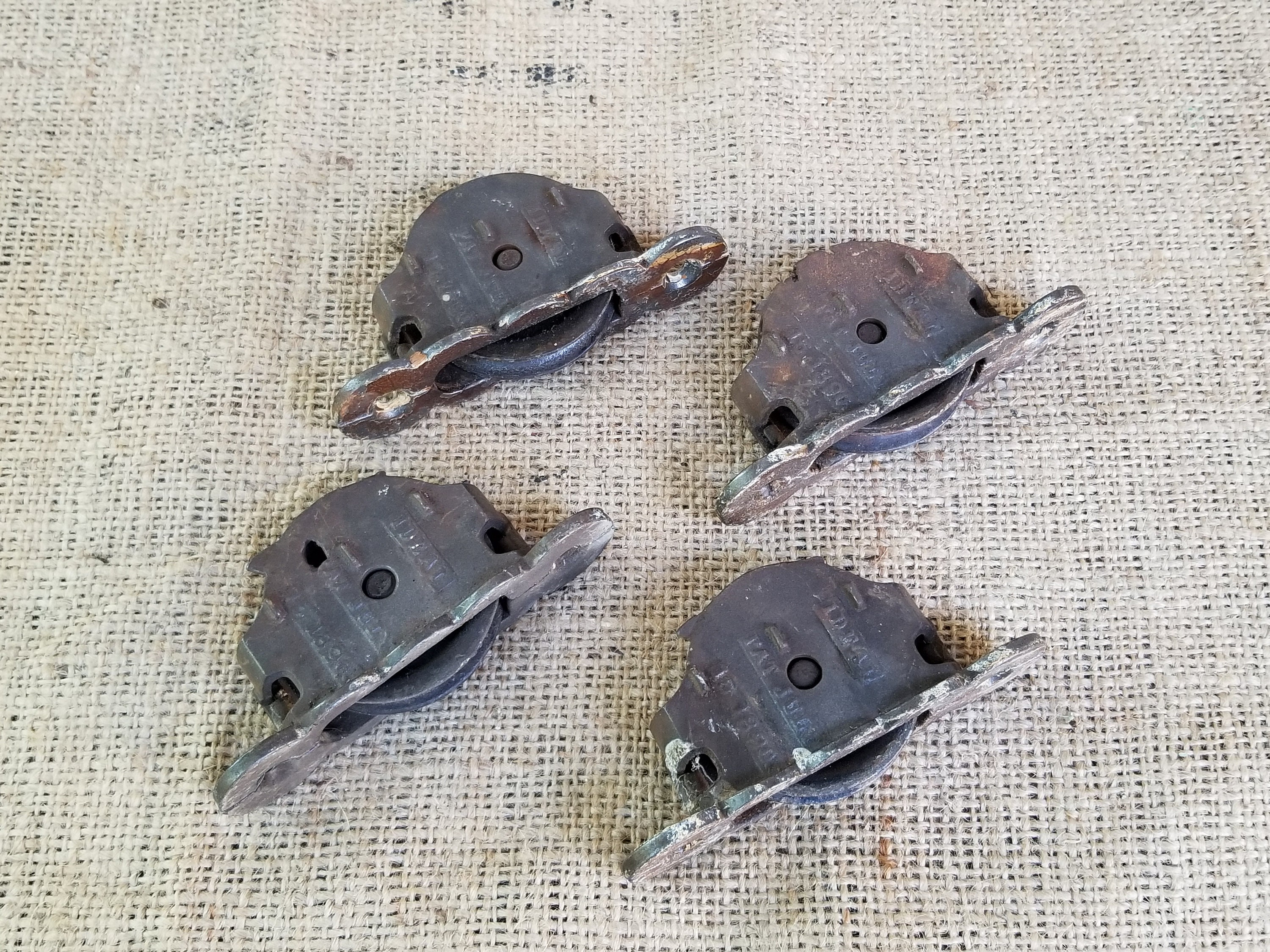 VINTAGE ANTIQUE  WINDOW SASH PULLEY WEIGHTS ROLLERS