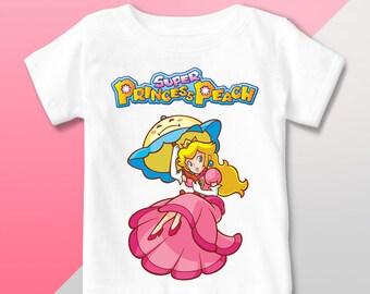 fa0ad71ba32e Super Princess Peach T Shirt Mario Bros, Super Princess Peach Birthday Shirt,  Princess PeachOutfit, Super Princess Peach Party Birthday
