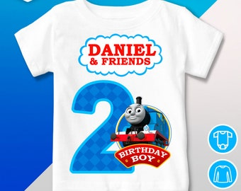 32452a5fe Thomas and Friends birthday shirt, Thomas and Friends birthday Shirt, Thomas  and Friends Outfit, Thomas and Friends Birthday Party