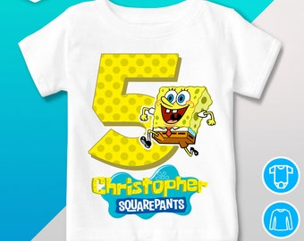 419374f9ed7 Spongebob birthday shirt