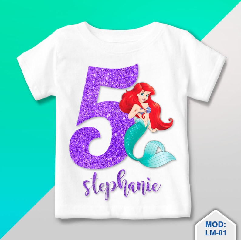 Little Mermaid Birthday Shirt T