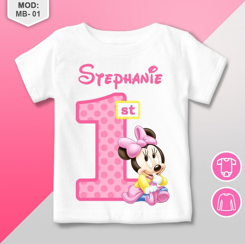 Minnie Mouse First Birthday Shirt Baby