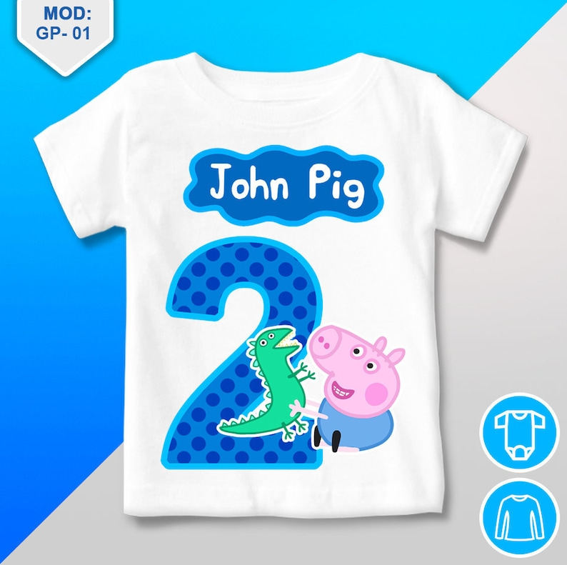 George Pig Birthday Shirt T Personalized