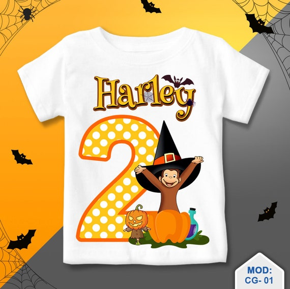 Curious George Birthday Shirt Halloween Curious George T Etsy