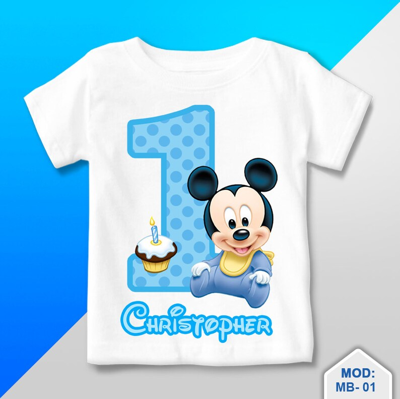 Mickey Mouse Baby T Shirt First Birthday