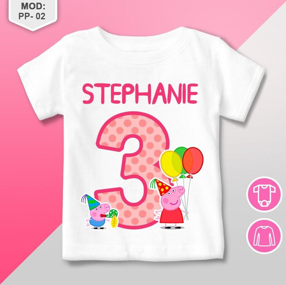 Peppa Pig Birthday Shirt Peppa Pig T Shirt Personalized  72a64ebb11c