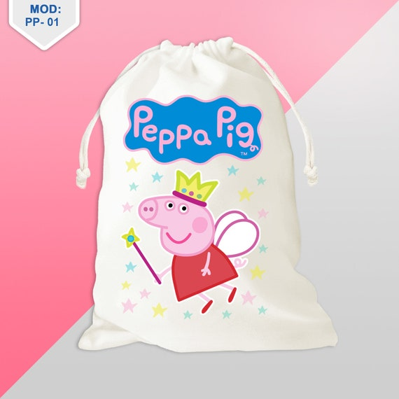 5Qty Peppa Pig Party Favors Bag Birthday