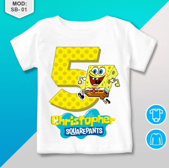 Spongebob Birthday Shirt T Personalized
